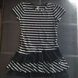 JUST IN📙 Cute black/white girls striped dress